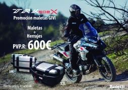 promoción maletas benelli TRK 502 X
