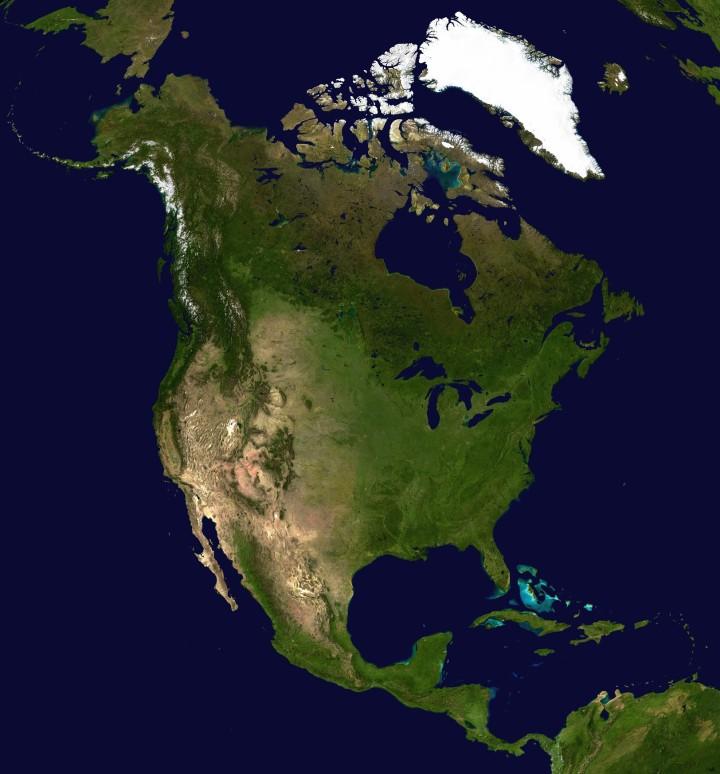 North_America_satellite_orthographic